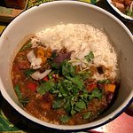 Spinach, Aubergine and Sweet Potato Curry