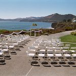 Our Ocean Terrace can seat up to 120 guests for a beautiful wedding over-looking Shell Beach