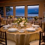 Our Coastal Bluffs Event Room has the best view in the house! Hosting up to 70 guests.