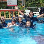 Fun with diving students