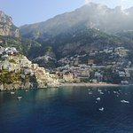 Positano from drone