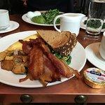 Great breakfast especially the bacon