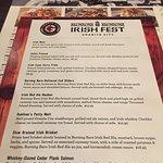 Irish Fest Menu