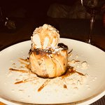 Pastry Encrusted Apple with Bourbon Ice Cream and drizzle with Bourbon Sauce