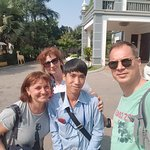 with Mr. Polla - our guide in Cambodia