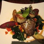 Monterey seafood special with scallops and snapper