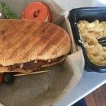 BBQ Pork Sandwich and Mac 'n Cheese