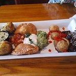 Taste of Tango platter served at Cafe Tu Tu Tango in Orange, CA