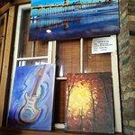 Artwork on display at Cafe Tu Tu Tango in Orange, CA