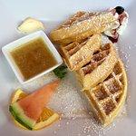 Plain Waffles for Breakfast