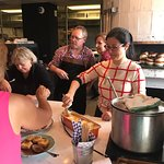 Chef Laurent and Vero managing the dessert buffet...