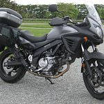 Fully kitted out for touring the Suzuki V-Strom is one of our most popular rental motorcycles.