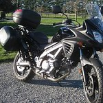 Suzuki DL650, a superb dual purpose motorcycle, ideal for New Zealand conditions.