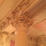 Artistic work at the tops of the pillars in the ballroom. The detail is incredible!