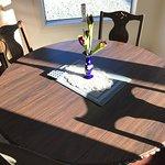 Tasteful lounge table.