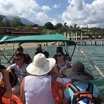 Our pontoon boat ride to the reef.