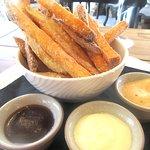 Fries with Dipping Sauces, Pinnacle Restasurant, Falkner Winery, Temecula, CA