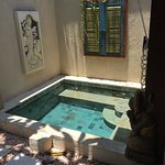 Small private jacuzzi pool inside the villa
