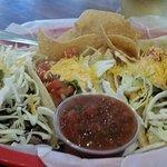 Clam chowder and shrimp tacos