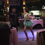 Latin dance performance at the ballroom restaurant