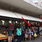 Check the arrow point of this photo. Located next to Value$ store