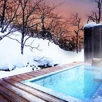 Cold snow, Hot open air bath
