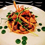 Fricassee of sweetbreads lamb garlic and parsley, celery remoulade with chorizo