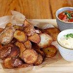 Patatas Bravas de La Casa (VGO) - served with aioli and spicy tomato sauce