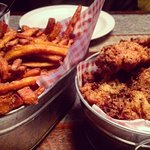 500g fried chicken and sweet potato fries