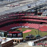 a view of Busch Stadium from the top of the Gateway Arch