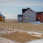Houses on Uttakleiv beach