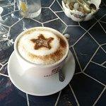 Joanne's artistic cappuccino concoction