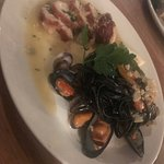 Monkfish, Black pasta, Mussels & Clams