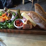 Nice ploughman's but pork pie could be bigger.