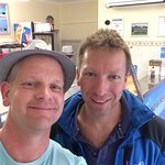 """Myself and Julian, the """"Yorkshire Vet"""" who popped in on our GF night :-)"""