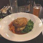 Lamb and pea pie