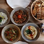 Why not begin your lunch or dinner with a selection of our traditional Meze dishes?