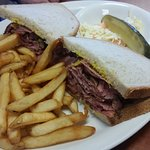 Smoked Meat Sandwich on Rye