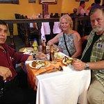 Con Theresa Klarich en el area de Barranco disfrutando la deliciosa comida Peruana