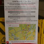 Notice about the closure of the funicular