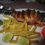 tandoori red snapper was amazing, fries were a tad rubbery