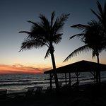 The Coquina beach at sunset