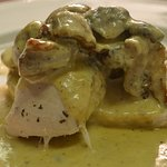 Chicken served with a Diane Sauce