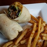 Southwest wrap with fries