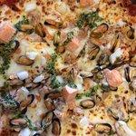 Une excellente pizza dégustée aujourd'hui pour 9.50 et dans un cadre sympathique