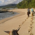 riding on the beaches of Mal Pais