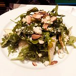 Arugula Apples, pears, toasted almonds,gorgonzola & honey-apple cider vinaigrette