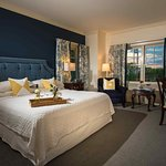 Harbor Hill Ocean View Rooms.  All with King Bed, Jacuzzi tub and radiant heat in the bathrooms