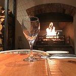 Roaring fire in The Ashton