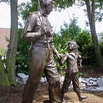 Andy and Opie's walk to the fishing hole is captured in bronze near the museum.